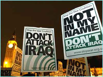 All over the world people are still marching in protest against the war in Iraq. This march was in London on Friday night