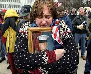 Nancy Rodriguez of Michigan, mother of 21-year-old soldier Joshua Rodriguez