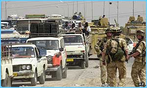 Residents of Basra are fleeing the city as coalition forces get nearer