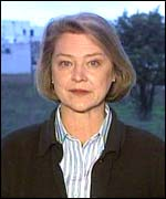 The BBC's Kate Adie during the Kosovo war