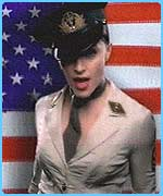 Madonna in her video that was withdrawn