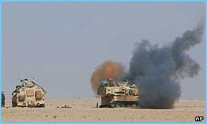 US troops are in action near Karbala