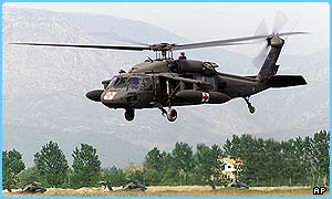 A Black Hawk helicopter has been shot down