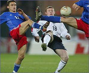 Wayne Rooney makes his presence felt in the match against Liechtenstein