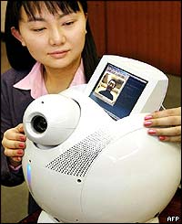 Toshiba's prototype model of the home use robot ApriAlpha