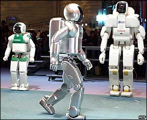 Honda's prototype model of the humanoid robot New Asimo
