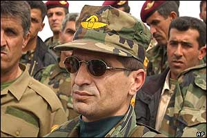 Kurdish special forces commander Waji Barzani, who was seriously injured in the incident