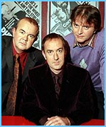 The old team: Ian Hislop, Angus Deayton and Paul Merton