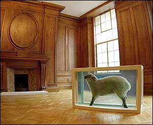 Damien Hirst's Away From the Flock from 1994
