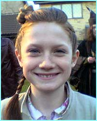 Ginny Weasley, the youngest of the family, played by Bonnie Wright