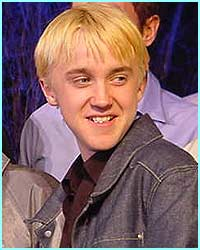Tom Felton's obviously started filming again - check out that blonde hair!