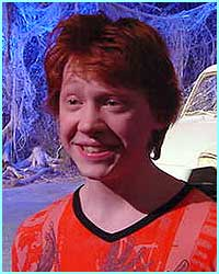 Rupert Grint (Ron) always has something to smile about