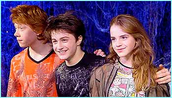 The three big stars - Rupert (Ron), Daniel (Harry) and Emma (Hermione) prove they're still good mates