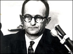 Adolf Eichmann in court (AP)