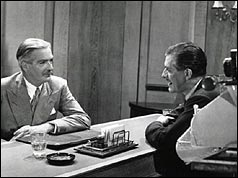 Sir Anthony Eden giving the 1951 party political broadcast
