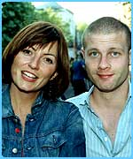 Davina McCall and Dermot O'Leary (Big Brother's Little Brother presenter)