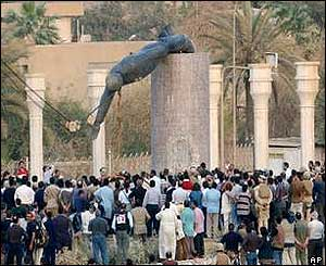 Saddam statue toppled