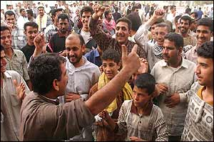Iraqis celebrate in Baghdad