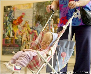 Duane Hanson's Woman and Child in Stroller from 1985