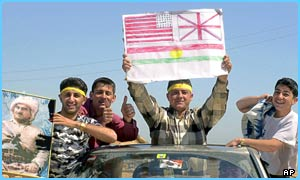 Kurds celebrating in Iraq