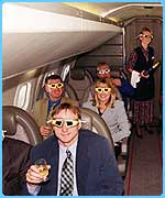 Customers on board Concorde to watch an eclipse