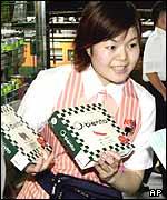 Comida envasada exportada por EE.UU. a Japón