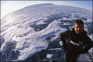 Pen Hadow at North Pole (picture by Martin Hartley)