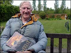 George Band in 2003 with a copy of his book, Everest: 50 Years on Top of the World