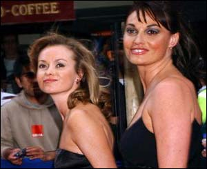 Amanda Holden and Sarah Parish provided the glamour