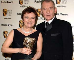 Julie Walters was presented with her award by Sir Ian McKellen