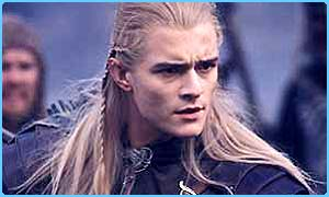 Legolas played by Orlando Bloom