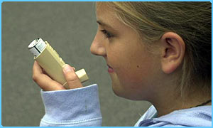 Kids with asthma use inhalers to help them breathe