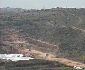 Excavation work near Jewish settlement of Oranit