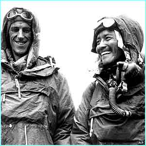 New Zealander Sir Edmund Hillary and Sherpa Tenzing Norgay made it to the peak and the top of the world