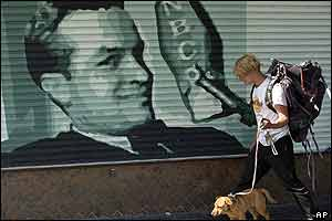A mural of the legendary entertainer Bob Hope