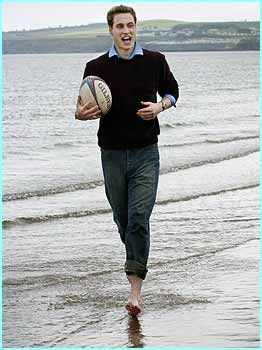 But no. Here is Prince William in action playing one of his favourite sports, rugby