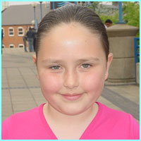 Bethany, nine, from Birmingham, was looking forward to seeing Girls Aloud: