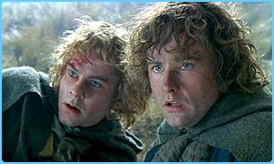 Hobbits Merry and Pippin