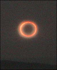 Stuart Baird captured this beautiful image of the annular eclipse in Stornoway, UK