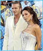 David and Victoria Beckham presented an award