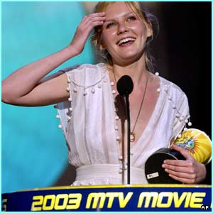 Kirstin Dunst picked up the award for best actress for her role in Spider-Man 2