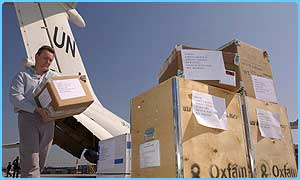 Oxfam is using UN planes to fly its aid to the Gulf