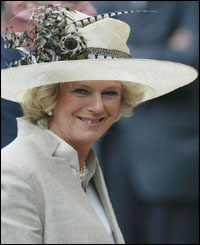 Camilla Parker Bowles was among 1,000 guests at the ceremony