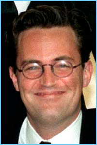 Friends star Matthew Perry shows off his spex appeal
