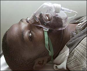 Unidentified man in a Harare hospital