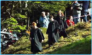 Harry Potter stars filming in Scotland