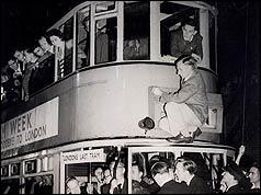 Scene from last tram's jouney
