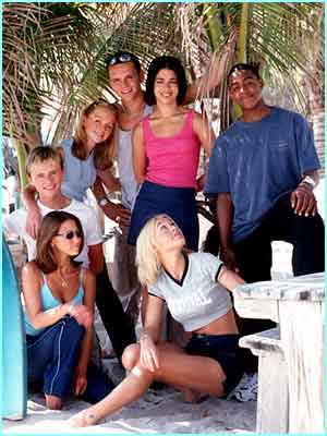 S Club 7 in 1999 in their first TV show, Miami 7