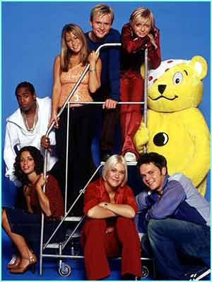 S Club 7 with Pudsey for Children in Need 2001