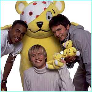 The boys with their mate Pudsey